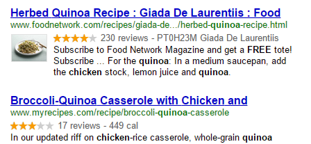 Powerful recipe search
